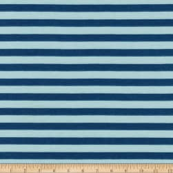 Kaufman Blake Cotton Jersey Knit Stripe Fog Fabric