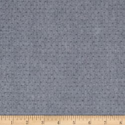 Kaufman Quotes Chambray Yarn Dyed Hash Dot Denim