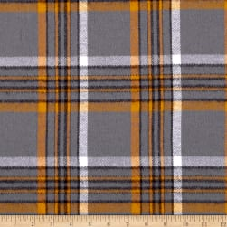 Kaufman Durango Flannel Plaid Grey Fabric