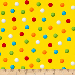 Bedtime Rhymes Multi Dots Yellow