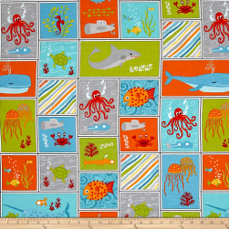 Big Splash Sea-Life Patchwork Multi Fabric