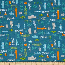Big Splash Submarine Teal Fabric