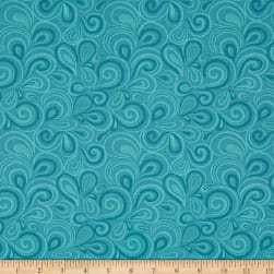 Big Splash Swirls Blue Fabric