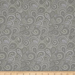 Big Splash Swirls Gray Fabric