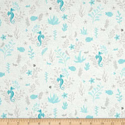 Big Splash Seahorse Cream Fabric