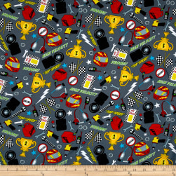 Fast Track Racing Accessories Gray Fabric