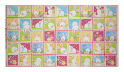 Hop To It Bunny Squares Multi Fabric