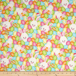 Hop To It Eggs & Bunnies Multi Fabric