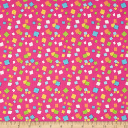 Hop To It Confetti Dots Pink Fabric