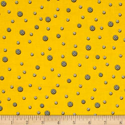 Let's Build Construction Dots Yellow Fabric