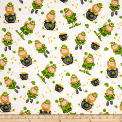 Lucky Me Tossed Leprechaun Multi Fabric