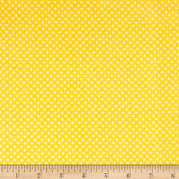 Henry Glass & Co. Panda-monium Flannel Dots Yellow