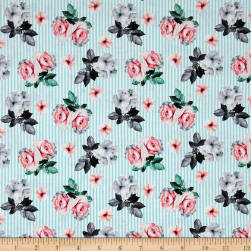 Romance Romantic Small Floral Lt Blue Fabric