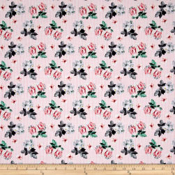 Romance Romantic Small Floral Pink Fabric