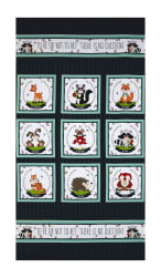 "To Be Or Not To Be 23"" Character Blocks Panel Navy"
