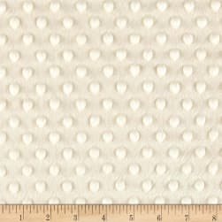 Michael Miller Minky Solid Dot Ivory