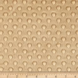 Michael Miller Minky Solid Dot Camel Fabric