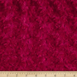 Michael Miller Minky Solid Rosebud Red