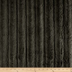 Michael Miller Minky Solid Velvet Snuggle Charcoal Fabric