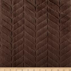 Michael Miller Minky Solid Herringbone Charcoal Fabric