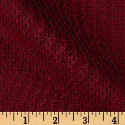 8.5 oz Athletic Stretch Mesh Cardinal Fabric