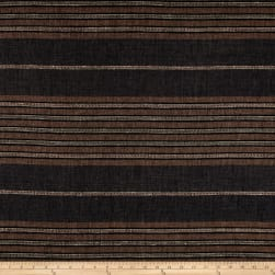 100% European Linen Striped Shirting Coffee Multi Fabric