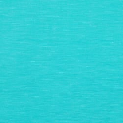 European Linen/Silk Aqua Fabric