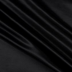 European Linen/Silk Black Fabric