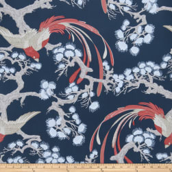 Fabricut 50037w Adelaida Wallpaper Indigo 02 (Double Roll)