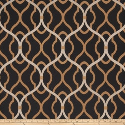 Fabricut 50094w Passa Ogee Wallpaper Onyx 05 (Double