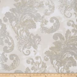 Fabricut Audrey Wallpaper Gray Stone (Double Roll)
