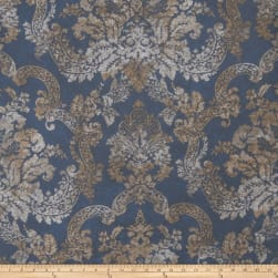Fabricut Stanwyck Wallpaper Indigo (Double Roll)