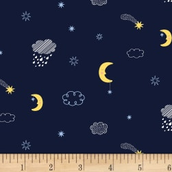 Dear Stella Luna Moons & Clouds Navy