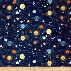 Dear Stella Supernova Solar System Navy Fabric