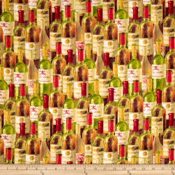 Uncorked Packed Bottles Multi Fabric