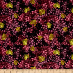 Uncorked Packed Grapes Purple Fabric