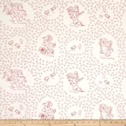 Chicken Scratch Weekday Chickens Tan/Red Fabric