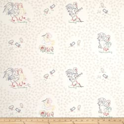 Chicken Scratch Weekday Chickens Tan/Multi Fabric