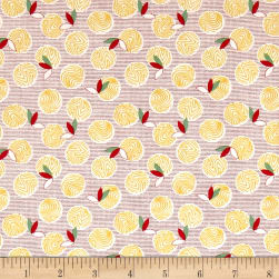 Chicken Scratch Yolks and Feathers Tan/Red Fabric