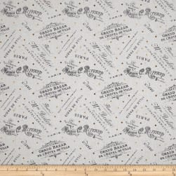Tres Graphique Word Toss Ivory Fabric