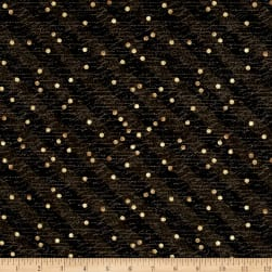 Tres Graphique Stripe & Dot Black Fabric