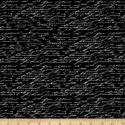 Tres Graphique Script Black/White Fabric