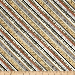Classically Trained Diagonal Strip Gold Fabric