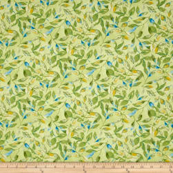 Prelude Leaves Allover Dark Blue Fabric
