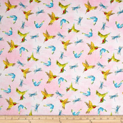 Prelude Hummingbirds Allover Light Pink
