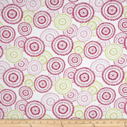 Prelude Circle Medallions White/Pink Fabric