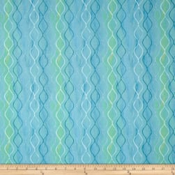 Prelude Wavy Stripes Aqua Fabric