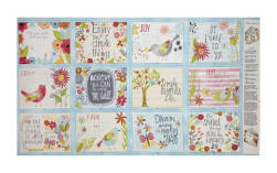 Believe You Can Book Panel Multi Fabric