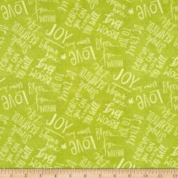 Believe You Can Words Allover Green Fabric