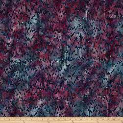 Wilmington Batiks Ikat Blue/Pink Fabric